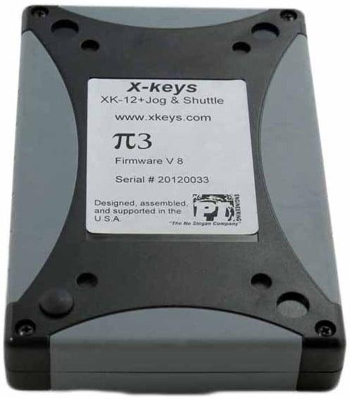 12-Key Programmable USB Keypad with Jog/Shuttle Control Wheel