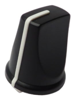 Black Knob With White Stripe For DJM