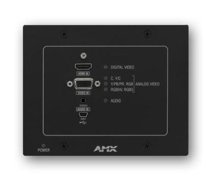 DXLink Multi-Format Wallplate Transmitter in Black