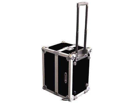 "ATA Flight Case For 120 12"" LPs with Handle & Wheels"