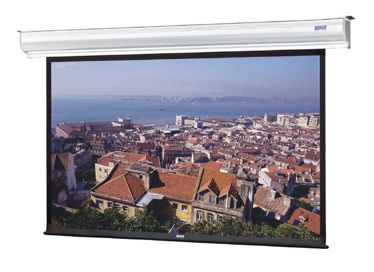 "45"" x 80"" 16:9 HDTV Format Contour Electrol Mounted Electric High Contrast Matte White Screen"