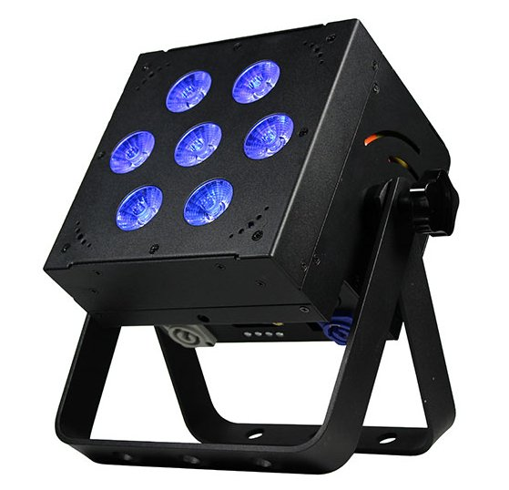 7x 15W RGBAW LED Par Can Fixture with UV