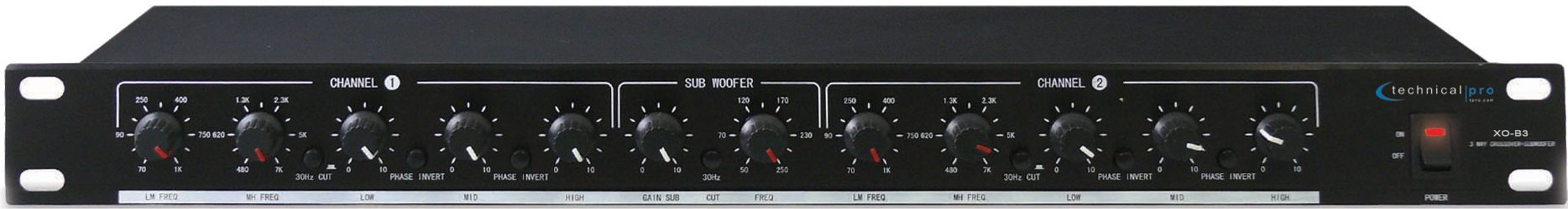 3-Way Crossover with Subwoofer Out