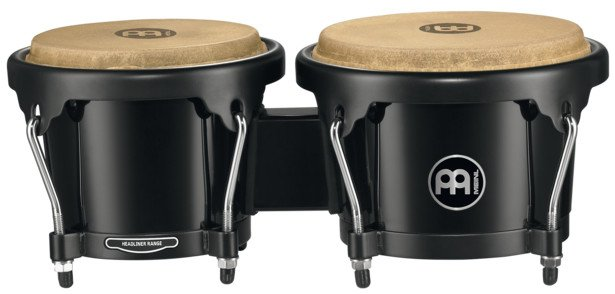 Meinl Percussion HB50BK Journey Series ABS Plastic Bongos in Black HB50BK