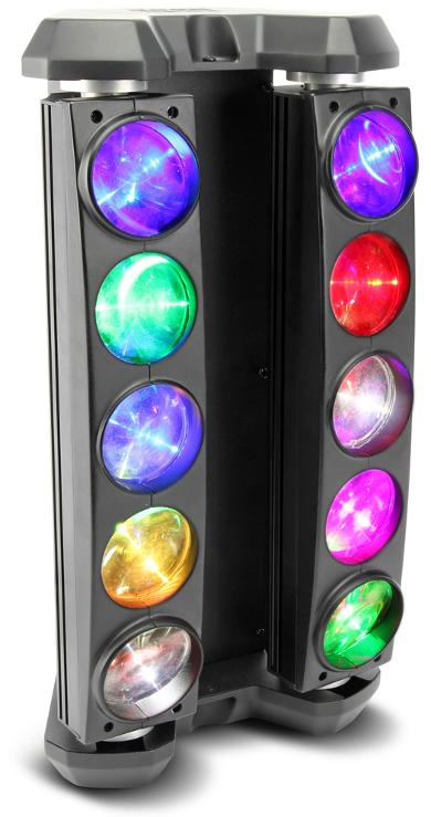 10x10W RGBW Moveable LED Bars
