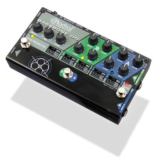 Radial Engineering Bassbone OD 2-Ch Bass Preamp & DI with Overdrive BASSBONE-OD