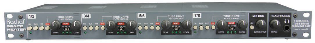 Radial Engineering Space Heater 8-Channel Tube Summing Mixer SPACE-HEATER