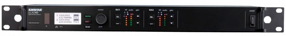 Shure ULXD4D-H50 Dual Channel Digital Wireless Receiver ULXD4D-H50