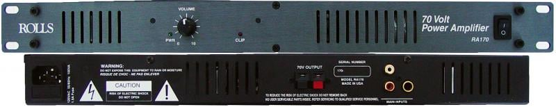 70 Watt 70V Rackmount Installation Power Amplifier