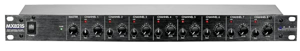 1RU 8 Channel Mic/Line Mixer