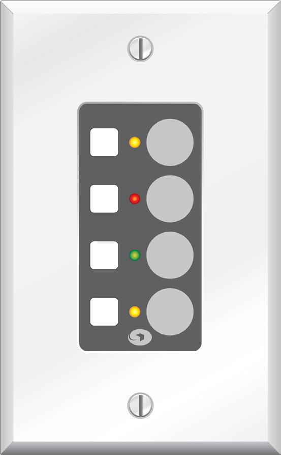 Modular Remote with Four Switches for Symnet