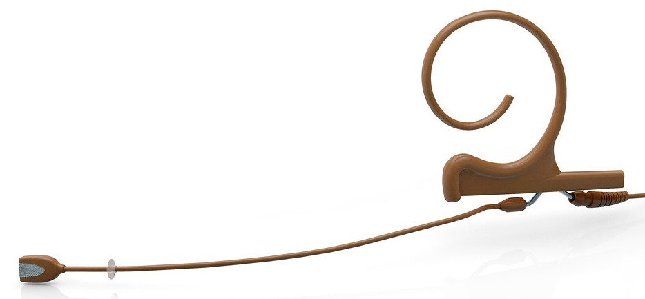 d:fine™ Omnidirectional Single Ear Headset Microphone with Medium Boom in Brown