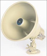 15W Paging Horn with 25/70V Transformer