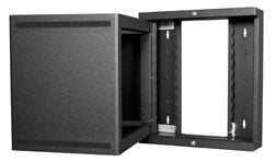 "10RU 22"" Deep Swing Open Wall Rack"