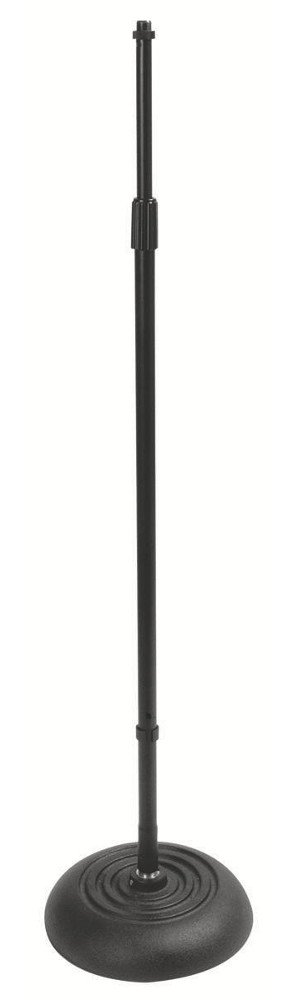 "34""- 60"" Microphone Stand with Round Base and Quarter Turn Latch"