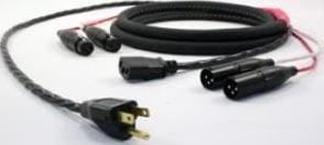 100' Siamese Twin Audio/Power Cable (Edison Plug/XLR-F/XLR-F to IEC/XLR-M/XLR-M)