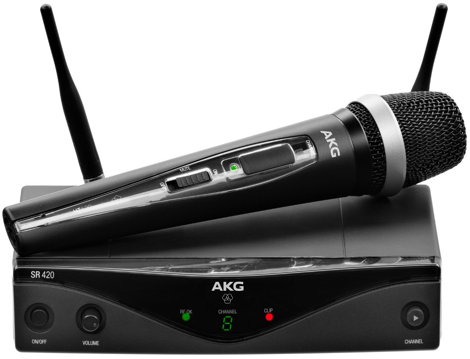 AKG WMS420 Vocal Set Wireless Microphone System with HT420 Handheld Transmitter WMS420-VOCAL