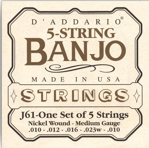 Medium Banjo Strings