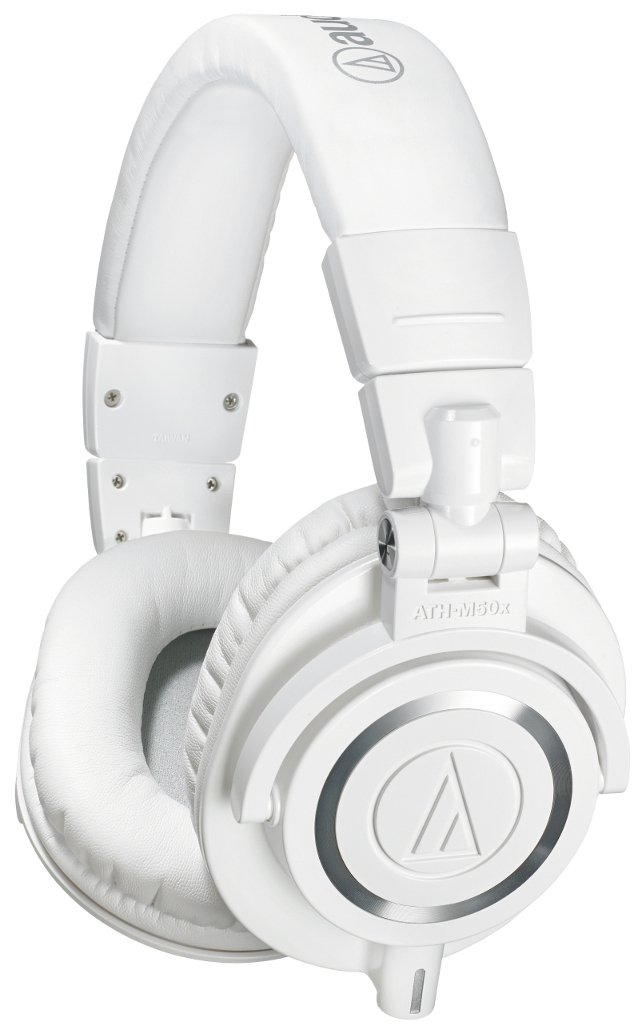 Audio-Technica ATH-M50x M Series Professional Closed Back Headphones in White with Detachable Cables ATH-M50XWH