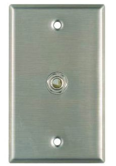 "Single Gang Stainless Steel Wallplate with Switchcraft 11 1/4"" Jack"