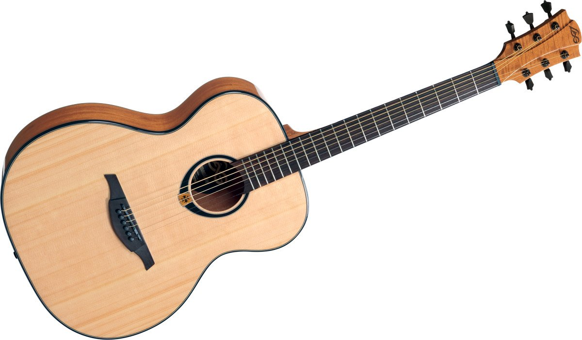 lag t80a tramontane series auditorium acoustic guitar with high gloss finish full compass systems. Black Bedroom Furniture Sets. Home Design Ideas