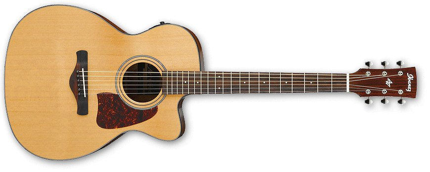 natural High Gloos Grand Concert Cutaway Acoustic/Electric Guitar with AEQ-SP2 Preamp