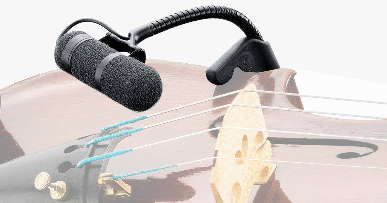 d:vote Supercardioid Microphone for Violin Wired for Sennheiser Lemo 3-pin