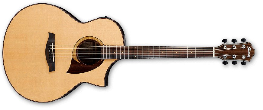 Natural High Gloss AEW Series Cordia Cutaway Acoustic/Electric Guitar with AEQ-SP2 Preamp