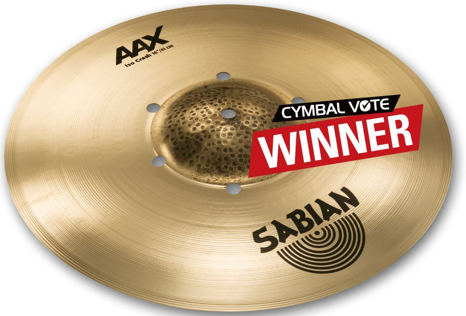 """16"""" AAX Iso Crash Cymbal in Natural Finish"""