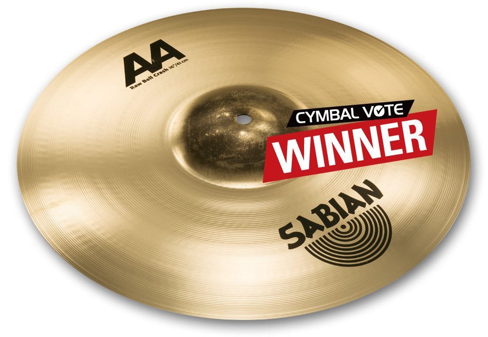 """16"""" AA Raw Bell Crash Cymbal in Natural Finish"""