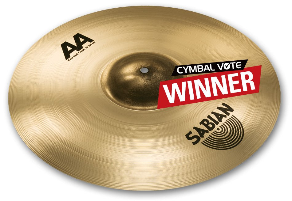 "18"" AA Raw Bell Crash Cymbal in Natural Finish"