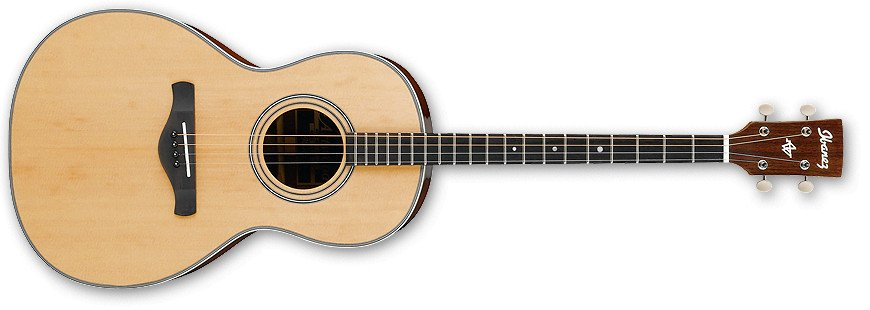 Natural High Gloss Artwood Vintage Series Parlor 4-String Tenor Acoustic Guitar
