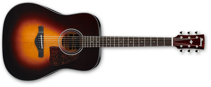 Brown Sunburst High Gloss Artwood Series Dreadnought Acoustic Guitar