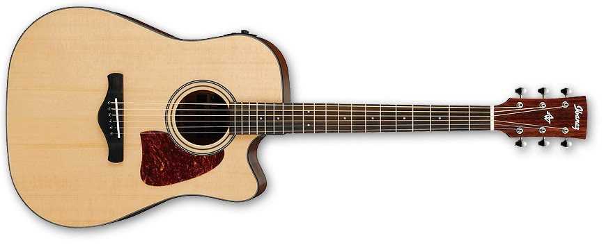 Natural High Gloss Artwood Series Dreadnought Cutaway Acoustic/Electric Guitar with AEQ-SP2 Preamp