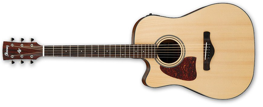 Brown Sunburst High Gloss Artwood Series Left-Handed Dreadnought Cutaway Acoustic/Electric Guitar with AEQ-SP2 Preamp