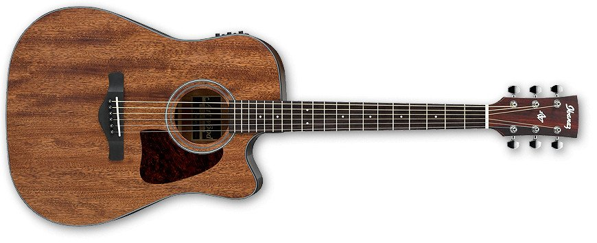 Ibanez AW54CEOPN Open Pore Natural Artwood Series Dreadnought Cutaway Acoustic/Electric Guitar with AEQ210TF Preamp AW54CEOPN