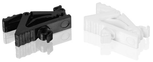 Microphone Cable Clips for H6 Lavaliers in Black and White