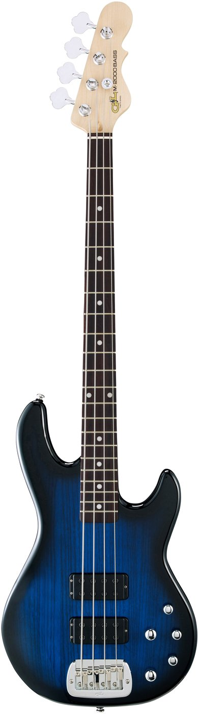 Tribute Series Electric Bass with Blue Burst Finish