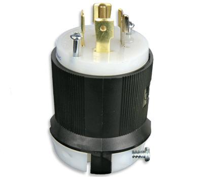 20A 120/208 VAC 3-Phase Nema L21-20 Locking Male Plug