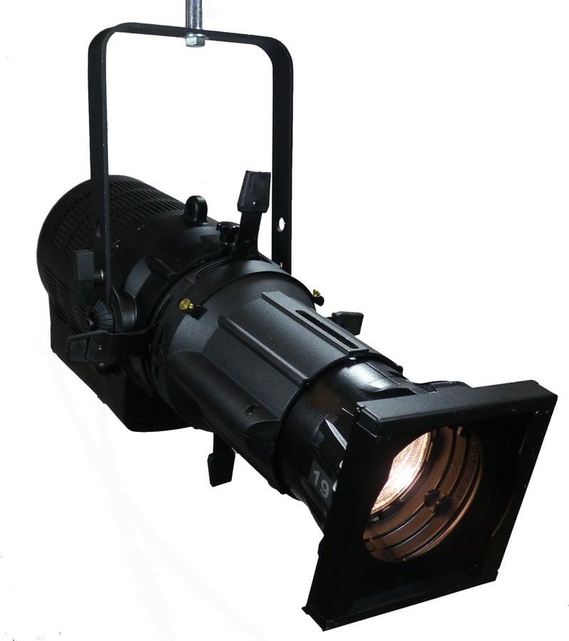 250 Watt 10° RGBA LED Black Ellipsoidal Spot