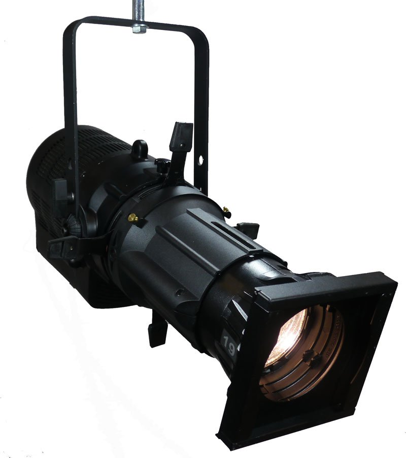 250W 26-Degree Phoenix LED Profile Spot Ellipsoidal Fixture in Black