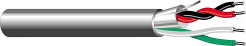 1000' 22/4C 1-Pr Unshielded Plenum Cable