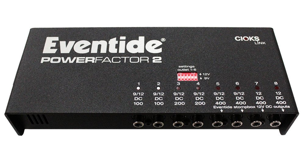 Eventide PowerFactor 2 Power Supply for Multiple Stompboxes POWERFACTOR-2