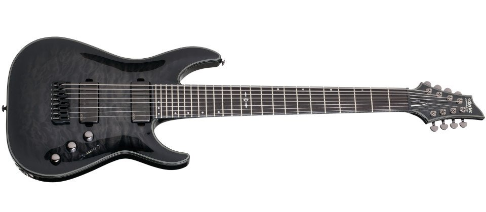 Trans Black Burst 8-String Electric Guitar
