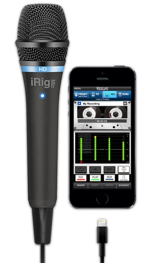 HD Handheld Condenser Mic for iOS Devices