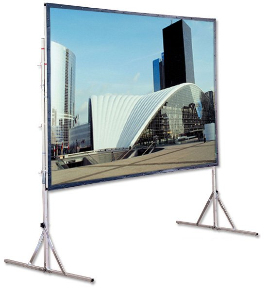 Draper Shade and Screen 218185  Cinefold Complete 16:9 Portable Projection Screen System with Standard Legs 56 x 96 218185