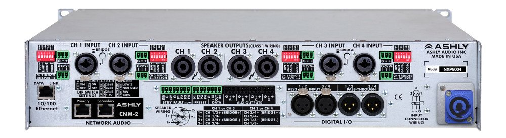 4 Channel 400W Network Power Amplifier with DSP