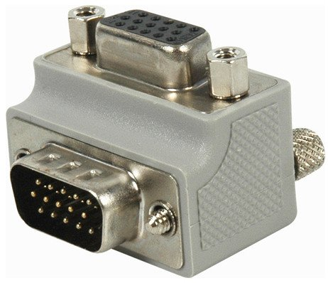 9 Pin Right Angle VGA Adapter - Exit Type 1