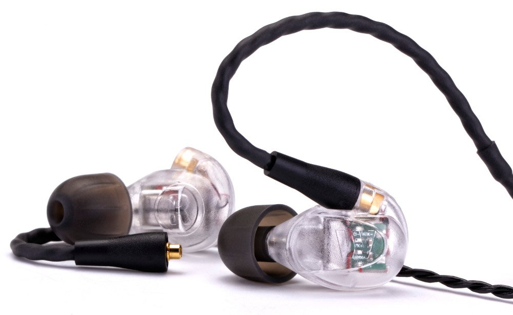 High-Performance 5 Driver Earphone Monitors with Removable Cable in Clear