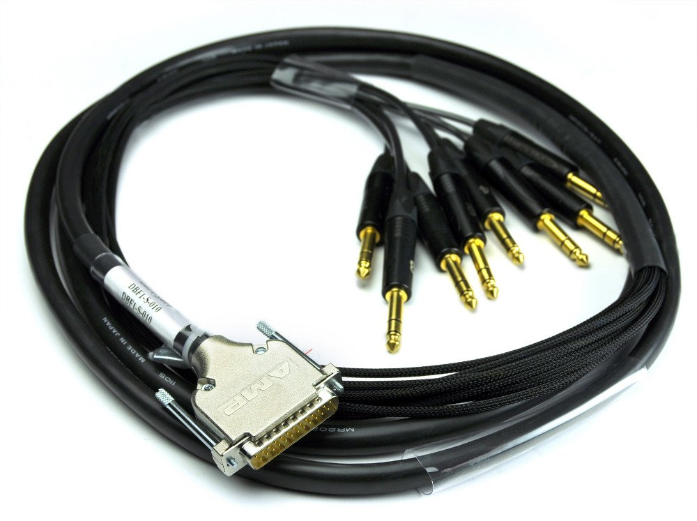 25ft DB25M to 8 TRSM Fanout Cable for Tascam/Digidesign